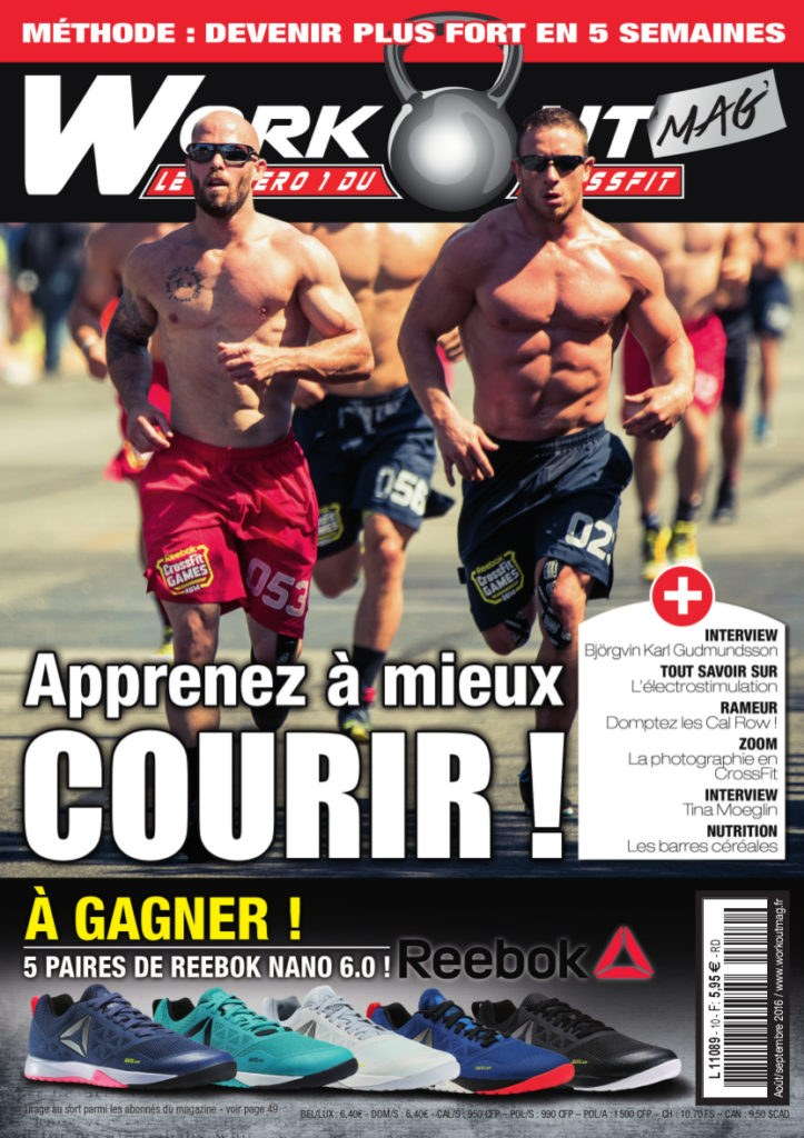 Publication dans le magazine Workout